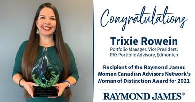 2021 Woman of Distinction - Trixie Rowein (CNW Group/Raymond James Ltd.)