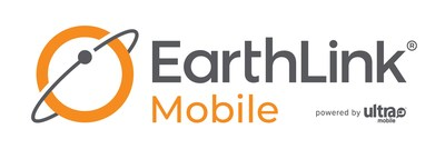 EarthLink Mobile logo powered by Ultra Mobile