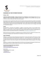 ShaMaran July 2021 Payments Received (CNW Group/ShaMaran Petroleum Corp.)