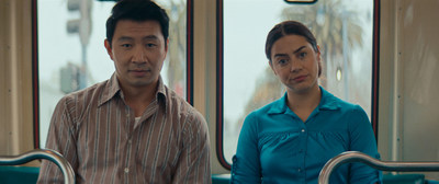 """Simu Liu and Lorenza Izzo in """"Women Is Losers"""" courtesy of Look at the Moon Pictures. (PRNewsfoto/IN Close Entertainment)"""