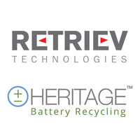 Retriev and Heritage Battery Recycling Logos