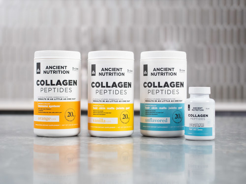 Ancient Nutrition Launches First Clinically Studied Collagen Peptides for Results in as Little as One Day
