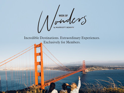Week of Wonders runs from October 7-14 and features exceptional travel offers available exclusively for Marriott Bonvoy members.