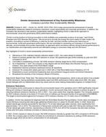 Ovintiv Announces Achievement of Key Sustainability Milestones (CNW Group/Ovintiv Inc.)