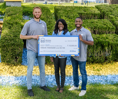 Team SU from Southern University and A&M College won second place at Zillow's HBCU Housing Hackathon: (L-R)  Nicolas Hardin,  Dominique McCraney and Rason Irvin. Photo credit: Photos by MeMe's Photography