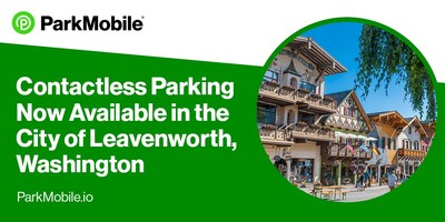Through the partnership, ParkMobile is offering a real-time view of space availability and 325 on-street and 350 off-street zone parking spaces for payment in Leavenworth.