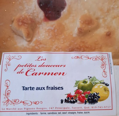 Tarte aux fraises (Groupe CNW/Ministère de l'Agriculture, des Pêcheries et de l'Alimentation)