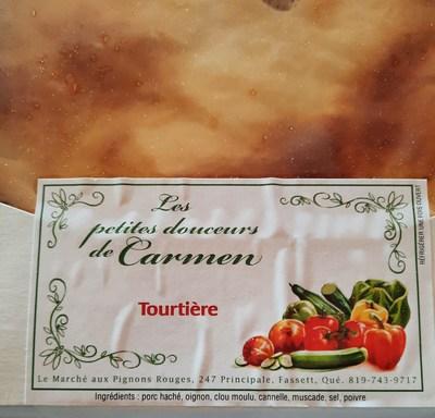 Tourtière (Groupe CNW/Ministère de l'Agriculture, des Pêcheries et de l'Alimentation)