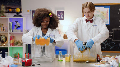 Sadie the Science Lady and her side kick Sam soak up harmful chemicals from vaping device.
