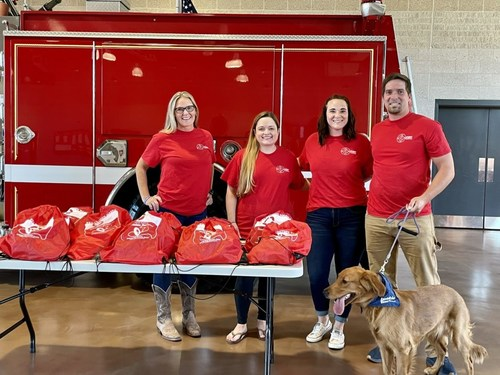 Prince Frederick Volunteer Fire Department and Invisible Fence® Brand Team. Photo courtesy of PFVFD.