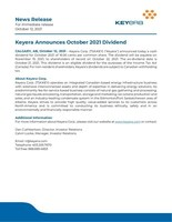News Release October 2021 Dividend (CNW Group/Keyera Corp.)