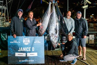 Team Janice O brought three +100 lb. tuna to Avalon's historic Green Pleasure Pier.