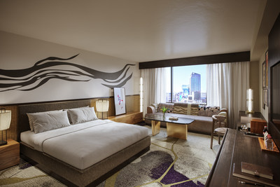 Nobu Deluxe King Room at Nobu Hotel Caesars Palace – Rendering (Credit: Rockwell Group)