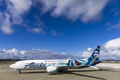 Alaska Airlines celebrates the Seattle Kraken's inaugural season with bold livery