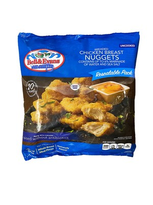 Bell & Evans NEW 30oz Resealable Family Bag of Nuggets
