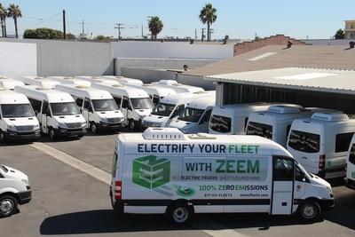 GreenPower's EV Star at Zeem Solutions' Inglewood California Facility