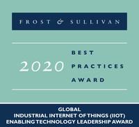 2020 Global Industrial Internet of Things (IIoT) Enabling Technology Leadership Award (PRNewsfoto/Frost & Sullivan)