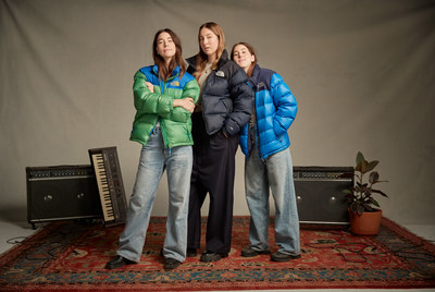 Musical artists HAIM are among the first explorers to submit their The North Face jackets to the digital archive this fall.