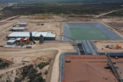 Figure 3: Heap Leach Pad, Pregnant Solution Pond and Merrill-Crowe Plant (CNW Group/Orla Mining Ltd.)