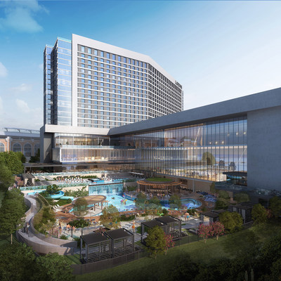 Rendering of the new Loews Arlington Hotel and Arlington Convention Center Developed by Loews Hotels & Co