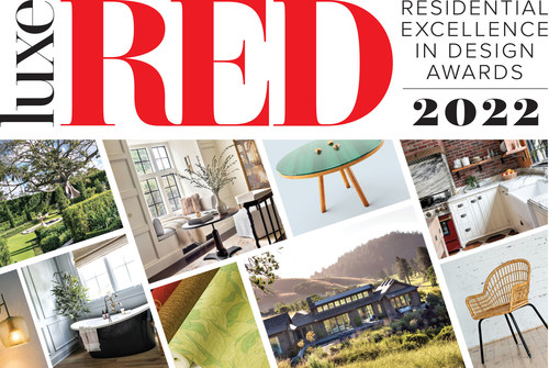 The Luxe RED Awards for Residential Excellence in Design salute the best interior design, architecture, and landscape design projects across the country. The 2022 Luxe RED Awards are introducing a new category: the Luxe RED Awards for Products. Awards will be given for design of residential products including home furnishings, appliances, lighting, materials, and more. Plus, project and product entries can compete for Readers' Choice Awards based on online voting.