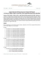 View PDF (CNW Group/Copper Mountain Mining Corporation)