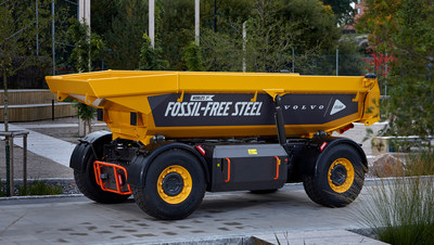 The World's first vehicle made of fossil free-steel.