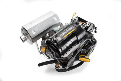 The Vanguard® 400 single-cylinder engine, which has been converted to run on propane, has been certified by the Environmental Protection Agency (EPA) as compliant with the Clean Air Act emission standards.