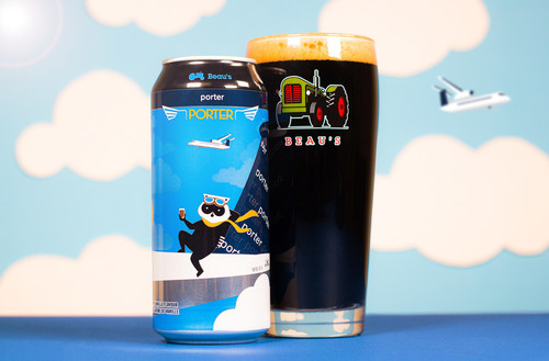 Porter Airlines and Beau's Brewing Co. are launching a new co-branded porter-style beer, the Porter Porter. (CNW Group/Porter Airlines)