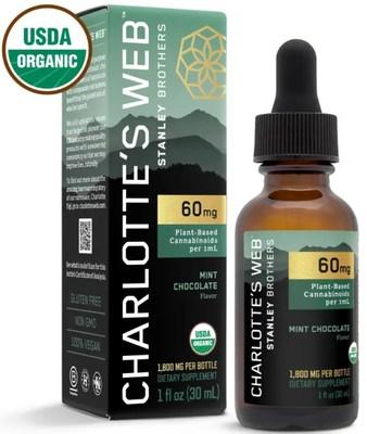 Charlotte's Web Certified Organic Hemp CBD (CNW Group/Charlotte''s Web Holdings, Inc.)