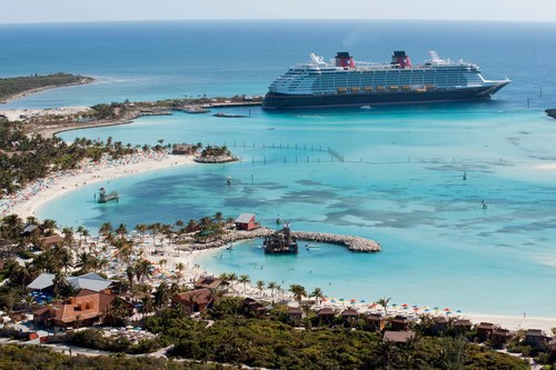 In early 2023, every Disney cruise from Florida includes a visit to Disney's private island oasis, Castaway Cay, which is reserved exclusively for Disney Cruise Line guests. In a setting of crystal-clear turquoise waters, powdery white-sand beaches and lush landscapes, the 1,000-acre island offers one-of-a-kind areas and activities for every member of the family. (David Roark, photographer)