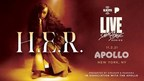 Academy and Grammy Award Winner H.E.R. to Perform at the Apollo for SiriusXM and Pandora