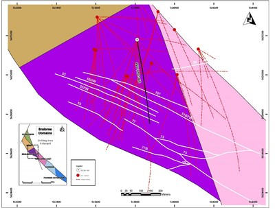 Figure 1: SB-2021-058 hole location within the Bralorne West Block. (CNW Group/Talisker Resources Ltd)