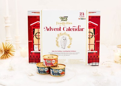 Fancy Feast releases its second annual holiday advent calendar, featuring 24 recipes. This year, the calendar includes two new limited-edition holiday flavors.