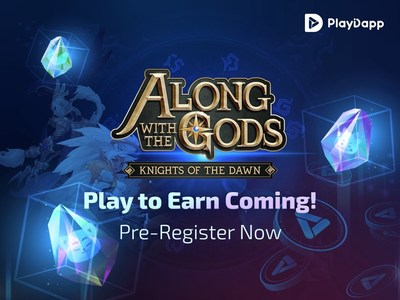 """Blockchain game """"Along with the Gods: Knights of Dawn"""" is launching P2E server (PRNewsfoto/PlayDapp)"""