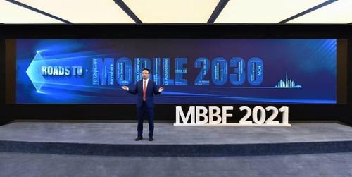 David Wang delivering a keynote speech at MBBF 2021