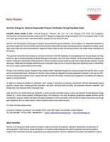 Vermilion Energy Inc. Achieves Responsible Producer Certification through Equitable Origin (CNW Group/Vermilion Energy Inc.)