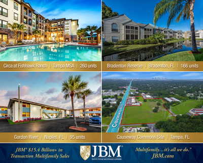 JBM Closes on Four Multifamily Deals in West FL
