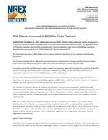 NGEx Minerals Ltd. (CNW Group/NGEx Minerals Ltd.)