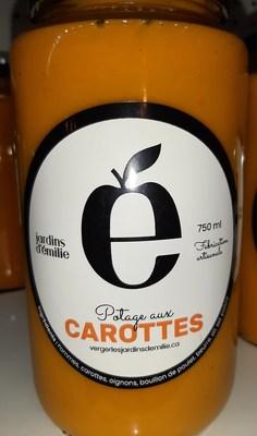 Potage aux carottes 750 ml (Groupe CNW/Ministère de l'Agriculture, des Pêcheries et de l'Alimentation)