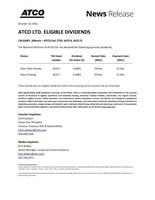 ATCO有限公司合格的股息