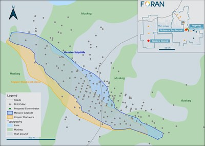 Figure 4. Plan Map (CNW Group/Foran Mining Corporation)