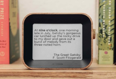 The Author Clock uses quotes from books to tell the time every minute of the day.