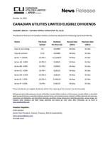 加拿大公用事业有限公司合格股息
