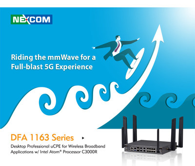 Riding the mmWave for a Full-blast 5G Experience: NEXCOM offers a unique uCPE white-box for ultra-high-speed 5G FR2 (mmWave) connectivity. DFA 1163 Series also offers additional value added features, including eight switch ports, Wi-Fi 6, PoE+ and one 10GbE SFP+ port for server grade connectivity. Besides all advantages on hardware level, another benefit of the DFA 1163 Series is deployment in oth 5G SA and NSA infrastructures, which makes it a future-proof appliance.