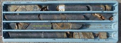 Figure 3 – Drill Core from RWD01 from 39.35m to 42.50m (CNW Group/Fosterville South Exploration Ltd.)
