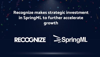 SpringML Receives Strategic Investment from Recognize to Support Next Chapter of Accelerated Growth