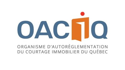 Logo de OACIQ (Groupe CNW/Organisme d'autoréglementation du courtage immobilier du Québec (OACIQ))