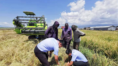 Zoomlion Agricultural Machinery team work together with local Ugandans