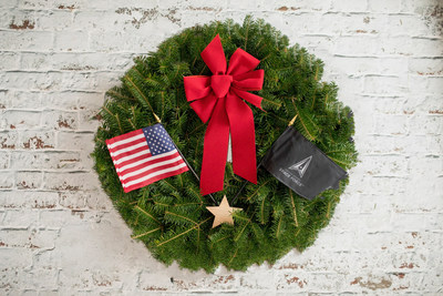 Wreaths Across America's eighth ceremonial wreath representing the United States Space Force.
